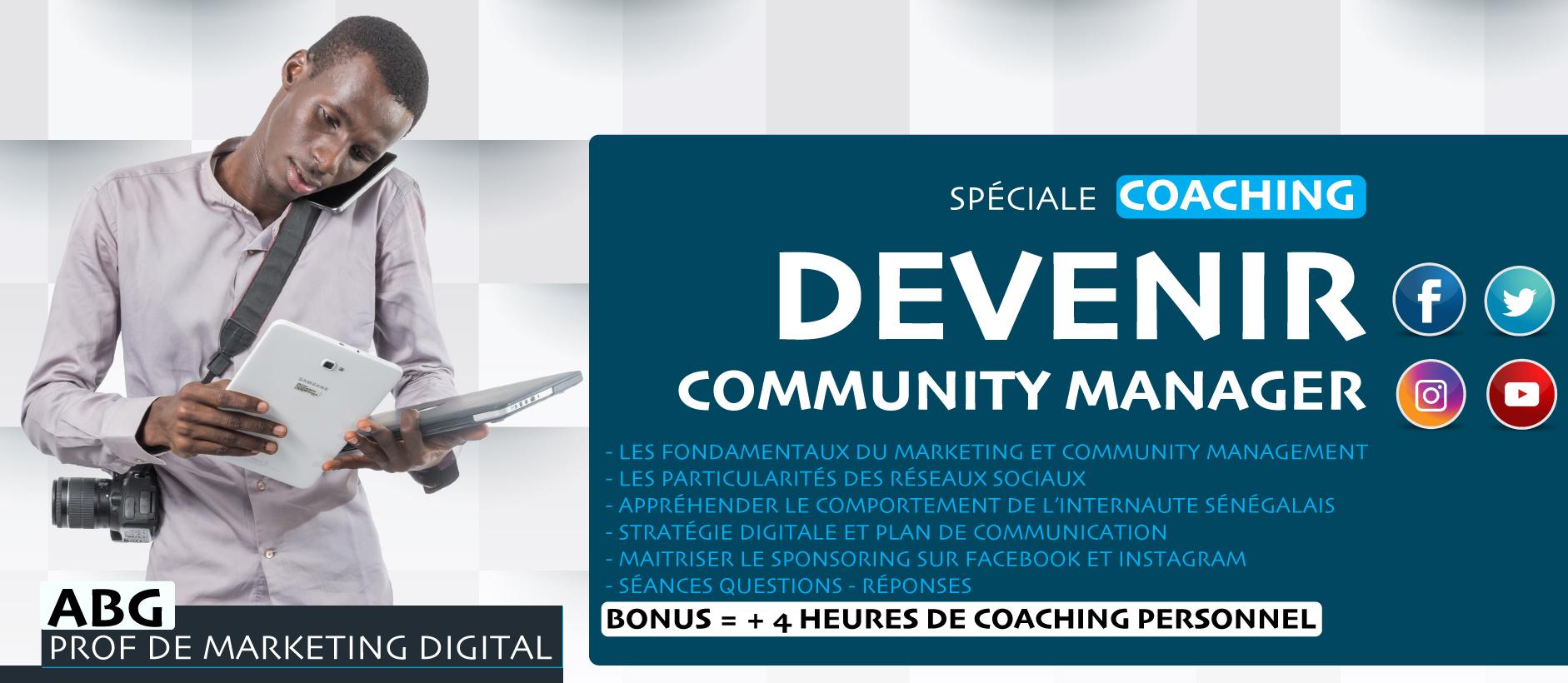 Formation devenir community manager